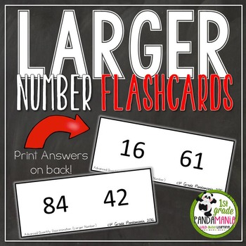 Larger Number (Advanced Quantity Discrimination) Flash Cards