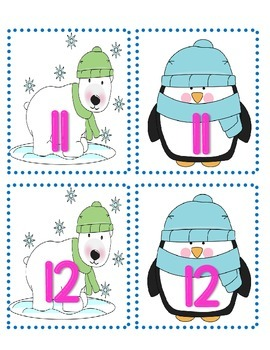 Larger Number Winter Game Packet