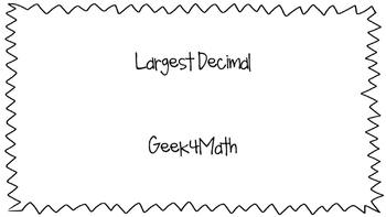 Largest Decimal