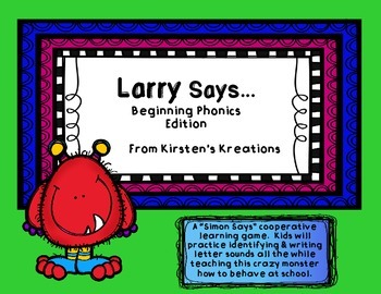 Larry Says - Beginning Phonics Edition