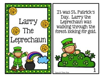 Larry the Leprechaun Interactive Story and Comprehension Activities