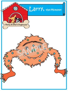 Larry, the Monster *Penny & Ellie's Doghouse Clipart*