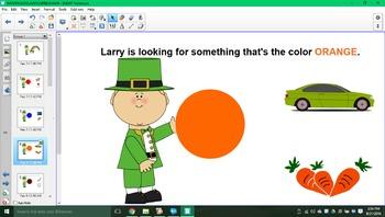 Larry the leprechaun's rainbow of fun SMARTboard activity!!