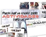 Las Actividades para Las Vacaciones (SPANISH)
