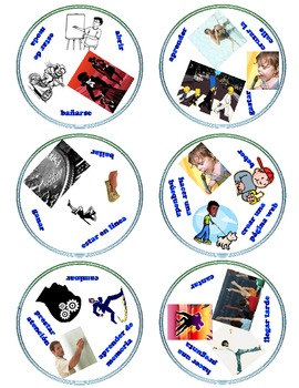 Las Actividades y Los Verbos - Activities & Verbs - Reflexives- Review Card Game