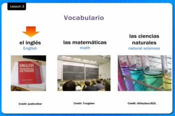Las Asignaturas - School Subjects - Video Tutorial