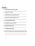 Las Aventuras de Isabela Chapter 4 Vocabulary Quiz