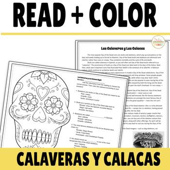 Día de los Muertos Reading and Glyph on Las Calaveras and Las Calacas