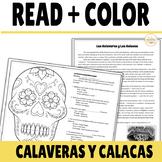 Día de los Muertos Reading and Glyph on Las Calaveras and