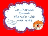 Las Charadas Spanish -AR verb Charades Flashcards