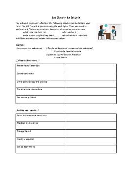Las Clases y La Escuela AR Conversation Activity