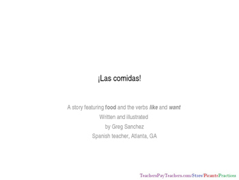 Las Comidas - Activities that teach food in Spanish