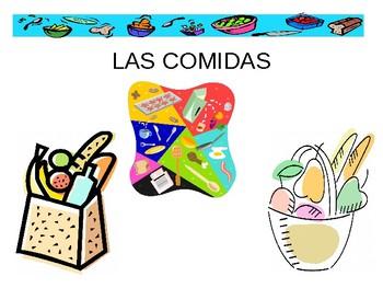 Las Comidas- Spanish Foods Powerpoint