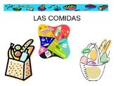 Las Comidas- Spanish Foods Vocabulary Powerpoint