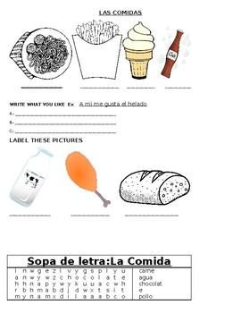Las Comidas / The Food