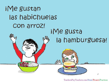 Las Comidas, full- Video/activities/song/coloring+, teaches food in Spanish