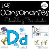 Las Consonantes - Posters y Actividades Interactivas