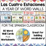 Las Cuatro Estaciones SPANISH Word Wall Bundle with Worksh