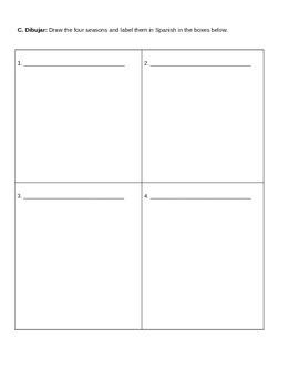 Las Cuatro Estaciones worksheet