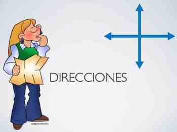 Las Direcciones - Spanish Directions and Irregular Verbs (