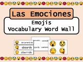 Las Emociones Emojis Vocabulary Word Wall – Spanish Emotions Vocabulary
