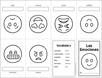 Las Emociones (Emotions) Mini Booklet Activity