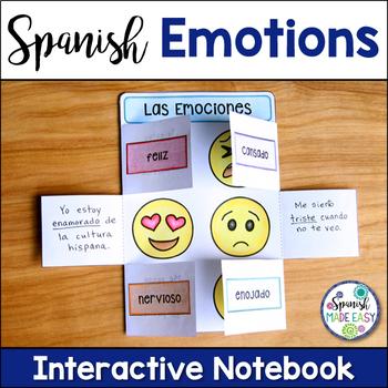 Las Emociones (Emotions) Spanish Interactive Notebook Activity