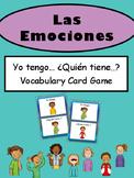 Las Emociones Yo tengo…¿Quién tiene..? Vocabulary Card Game- Spanish Emotions