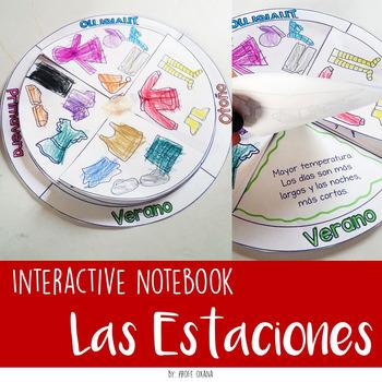 Las Estaciones del año Interactive Notebook - Cuaderno interactivo