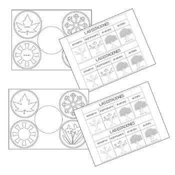 Las Estaciones / Seasons Interactive Notebook