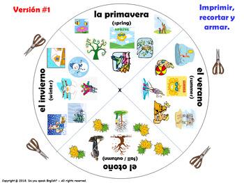 Las Estaciones / Seasons in Spanish