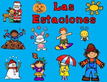 Las Estaciones Sorting Mats:  Spanish Seasons of the Year Science Center
