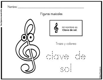 Las Figuras musicales | music symbols in spanish