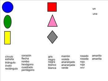 Las Formas y Los Colores SMARTBoard Activities