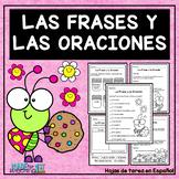Las Frases y las Oraciones - Spanish Worksheets