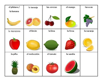 coloring pages las frutas spanish - photo#29