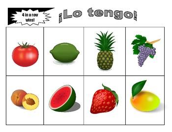 Las Frutas BINGO