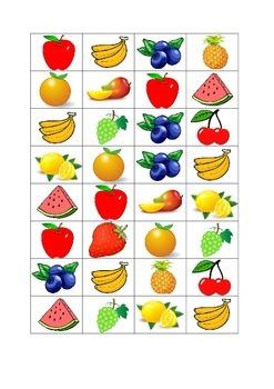 Las Frutas - Bingo - Fruits in Spanish