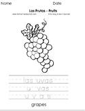 Las Frutas - Fruits - Páginas para Colorear - Coloring Pages
