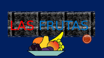 Las Frutas- Fruits in Spanish- Power Point: Vocabulary & Writing Prompt & Puzzle