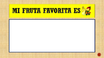 Las Frutas y Colores- Powerpoint-Describe and play guess the fruit in Spanish