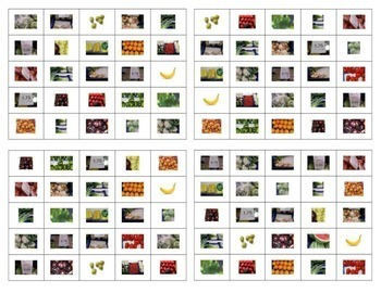 Spanish Bingo: Fruits and Vegetables