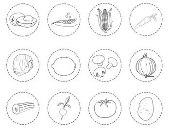 Las Frutas y Las Verduras Interactive Notebook, Posters and More!