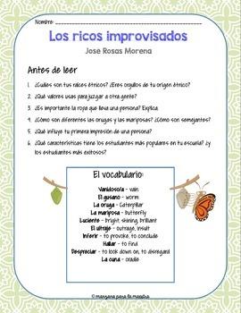 Las Identidades - Jose Rosas Morena Los Ricos Improvisados Poem Fable