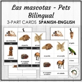 Las Mascotas Pets Spanish Bilingual Vocabulary 3 Part Card