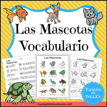 Las Mascotas Vocabulario {Pets Vocabulary Pack in Spanish}