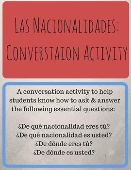 Las Nacionalidades: Conversation