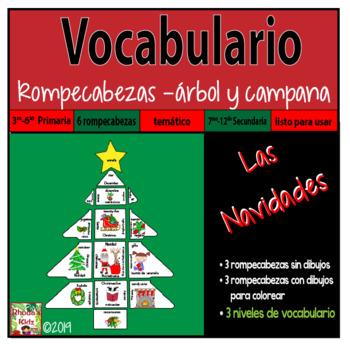 Las Navidades -Christmas- VOCABULARIO Rompecabezas