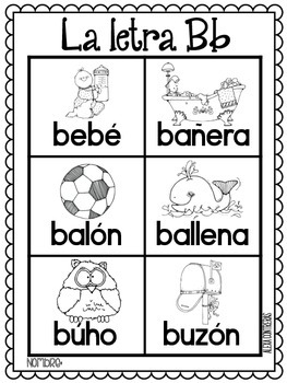 Las Palabras Del Alfabeto {Alphabet portable word wall in Spanish}