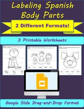 Las Partes del Cuerpo- Label the Body Parts
